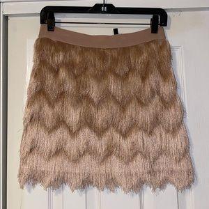Pink fringe BCBG skirt